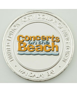 Mandalay Bay Concerts on the Beach Colorized Casino Gaming Token, Silver - $78.84