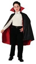 NEW Black Reversible Taffeta Vampire Child Haloween Cape by Rubies - £5.26 GBP