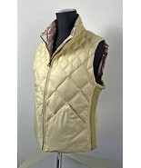 Ivory/Pink Reversible Quilted Front Zip Satin Vest - Women's Size Small - $21.80