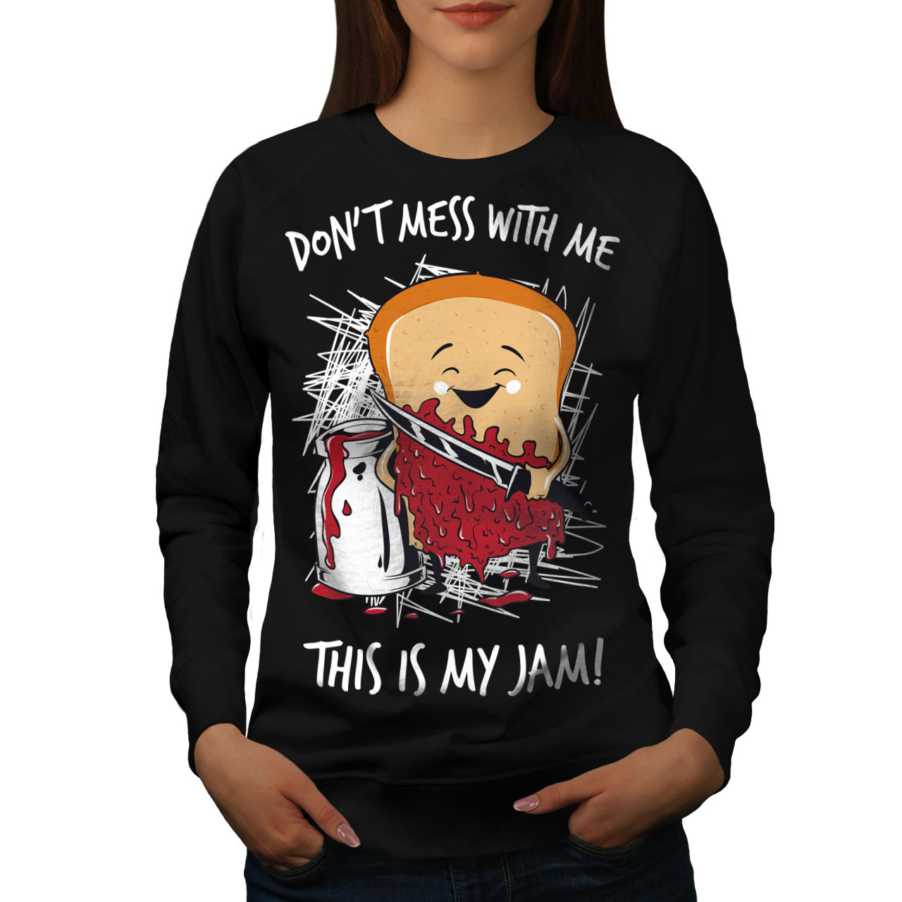 Primary image for My Jam Bread Mess Funny Jumper  Women Sweatshirt