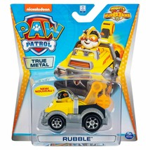 """Nicklelodeon Paw Patrol Mighty Pups Super Paws True Metal Car Toy """"Rubble"""""""