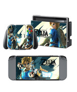 Nintendo Switch Console Joy-Con Dock Skin Set Zelda Breath of Wild Vinyl... - $9.00