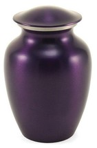 Large Classic Pet Brass Violet Funeral Cremation Urn, 195 Cubic Inches - $144.99
