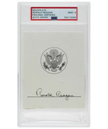 President Ronald Reagan Signed Slabbed Book Plate PSA/DNA Graded Mint 9 - $2,882.87