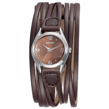 Women Leather Wrap Around Quartz Watch Lady Vintage Bracelet Watches (Br... - $49.10