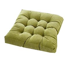 21-Inch Square Floor Pillow Tufted Support Padded Boosted Cushion, Green - $40.45