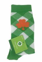 St. Patricks Day Crew Women's Socks Size 4-10 Orange Clover - $6.92