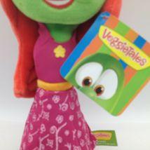 "Enesco Veggietales Petunia Rhubarb Plush Doll Toy 11"" Tall Super Soft Veggie image 5"