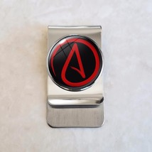 Choose Color Atheist Symbol Skeptic Stainless Steel Money Clip - $20.00