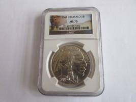 2001-D , American Buffalo , NGC , MS 70 - $595.00