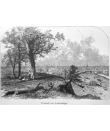 CLEVELAND Ohio View from Federal Hill - 1883 German Print - $16.20