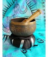 Tibetan 3 Inch Singing Bowl w/ Striker & Black Cushion Made of 7 Metals sb7 - $21.55