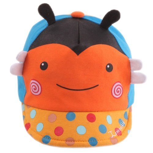 Infant Sun Protection Hat Baby Beaked Cap Toddler Floppy Cap Cute Bee Orange