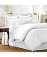 Charter Club Damask Stripe 500 Thread Count Twin Duvet Cover White - $79.19