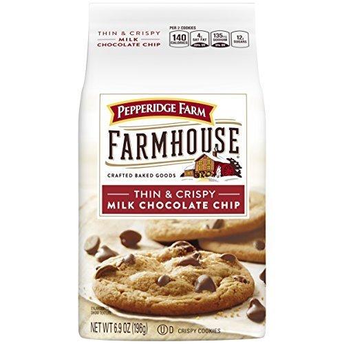 Pepperidge Farm Farmhouse Thin & Crispy Cookies, Milk Chocolate Chip, 6.9 Ounce