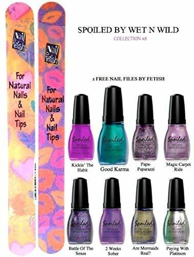 WET N WILD Spoiled Nail Color COLLECTION #8 OF 8 Shades Plus 2 Free Nail Files F - $19.59