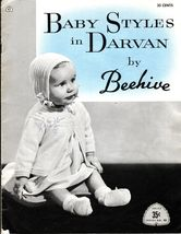 Vintage Baby Styles Beehive Knit Layettes Quaker Harebell Popcorn Pattern NB-12M - $12.99