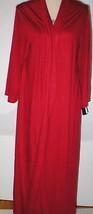 NWT New Designer Natori Wrap Robe Womens L Soft Red Modal Long Pockets N... - $117.00