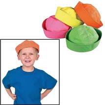 """Neon Sailor Hats (12 Pack) Assorted Colors 21"""" Circ. - $29.40"""