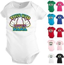 This Kid Loves Nana Funny Kids T shirt Youth tee Baby Toddler bodysuit K20 - $13.99