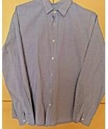 Men's Frank & Eileen Blue/White Small Check Long Sleeve Shirt (L)  - $23.38