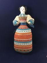 "China Head Pincushion / Sachet Doll Folk Costume 11"" - $9.89"