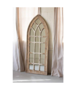 Gothic Cathedral Church Mirror Arched Window Frame Rustic Style,60''H - $305.91
