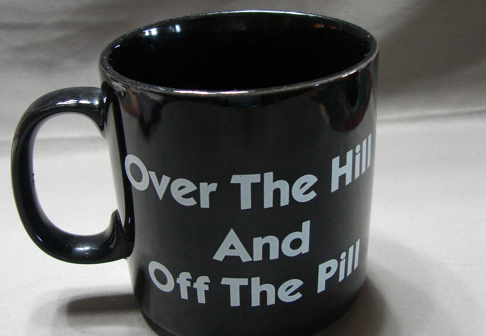 Primary image for Over The Hill And Off The Pill Coffee Mug Black from Russ Berrie