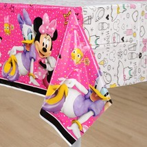 Minnie Mouse Happy Helpers Plastic Tablecover 1 Count Birthday Party Sup... - $6.44