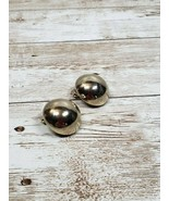 """Vintage Clip On Earrings Gold Tone Button 3/4"""" - $6.99"""