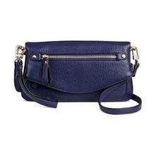 New Merona Women's Tunnel Flap Crossbody Handbag Mood Ring Blue, Size One - $12.55