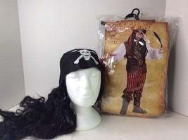 High Seas Pirate Buccaneer Swashbuckler Adult Halloween Costume Plus Wig One SZ - $37.15