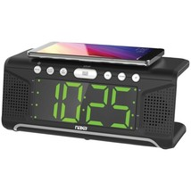 "Naxa NRC-190 Dual Alarm Clock with Qi Wireless Charging (1.8"" Jumbo Disp... - €46,36 EUR"
