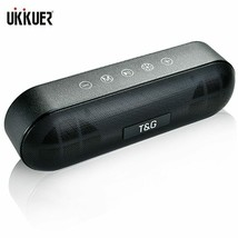 TG LED Bluetooth Outdoor Speaker Metal Portable Super Bass Wireless Loud... - $46.35 CAD