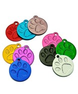 Personalized Round Paw Print Pet ID Tag - $5.65