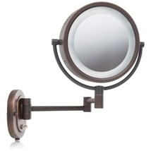 Jerdon HL65BZ 8-Inch Lighted Wall Mount Makeup Mirror with 5x Magnificat... - $64.99
