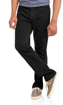 Faded Glory Men's Regular Fit Jeans 40X30 Black Classic Fit Straight Leg NEW - $27.71