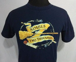 Harry Potter Nimbus Two Thousand Youth Size XL T Shirt Blue Warner Bros ... - $14.84