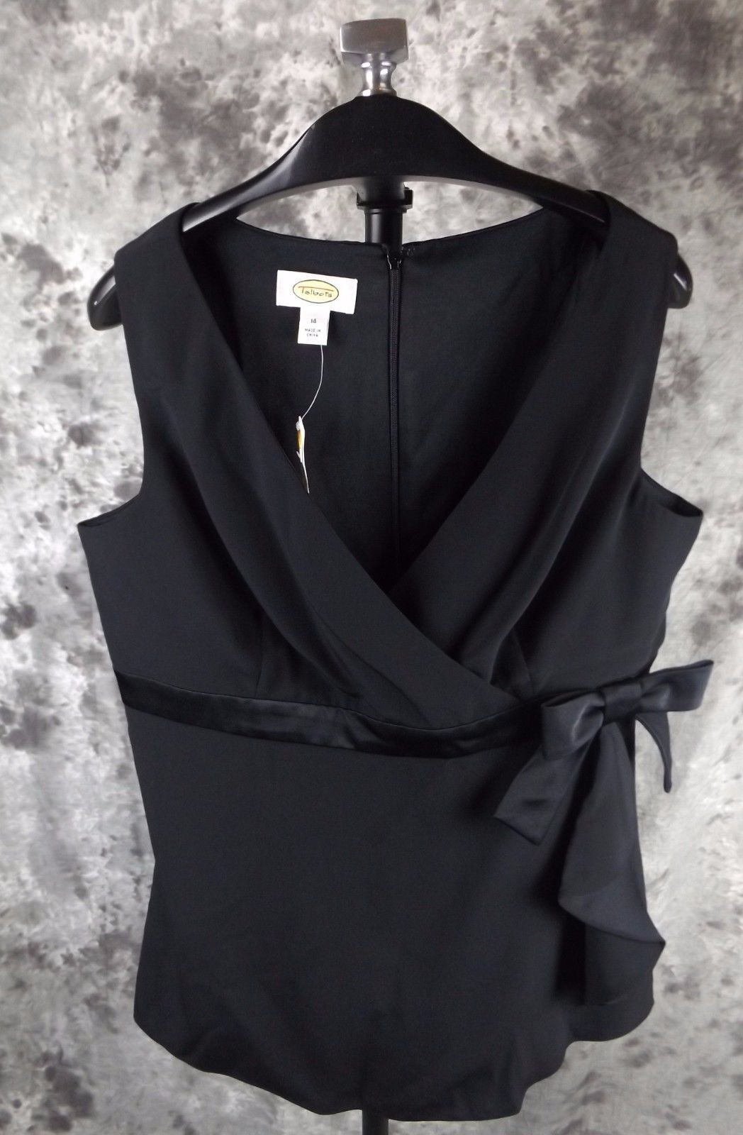 7964659b69b76a New Talbots Crepe Blouse Top Size 14 Black and 50 similar items