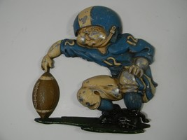 Homco Wall Art Old Football Player Vintage 1976 Place Kick Holder #1254 - $16.78