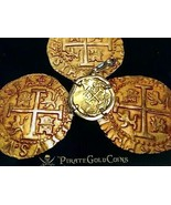 COLOMBIA FLEET SHIPWRECK PENDANT 2 ESCUDOS PIRATE GOLD COINS JEWELRY NEC... - $5,950.00