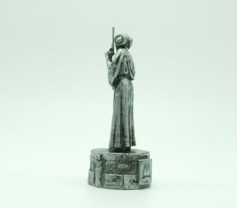 Star Wars Saga Edition Silver Princess Leia Bishop Chess Replacement Game Piece image 6