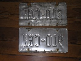 Well Used Set of 2 Wisconsin Car Metal License Plates  – 12 x 6 inches –... - $6.79