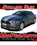 2015-2017 Ford Mustang GT V6 STALLION SLIM Rally Racing Stripes 3M Decal... - $169.38