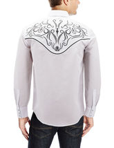 Men's Western Rodeo Style Cowboy Embroidered Tribal Print Dress Shirt image 8