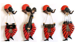 Indian Handmade Wall Hanging of Set of 4 Ganesha Religious Home Decor  - $124.30