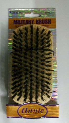 Primary image for Annie Medium Military Brush Light Brown 50% Nylon /50% Black Bristle #2162
