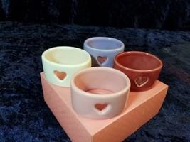 WILLIAMS SONOMA Heart Napkin Rings - Set of 4 - Retired Pattern - Origin... - $24.70