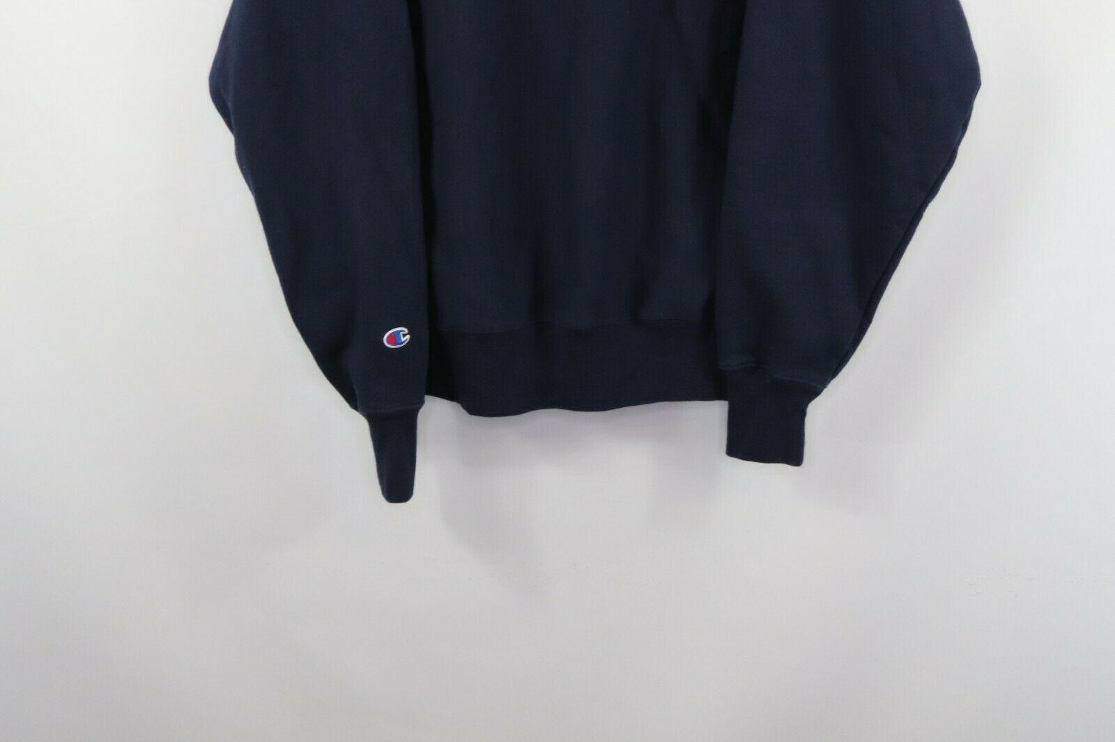 Champion Reverse Weave Mens Large Optimize Spell Out Crewneck Sweatshirt Blue image 8