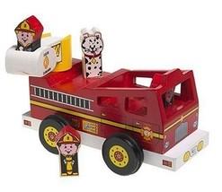 Vintage Melissa & Doug Pop & Go Wooden Fire Truck       12 - $34.27